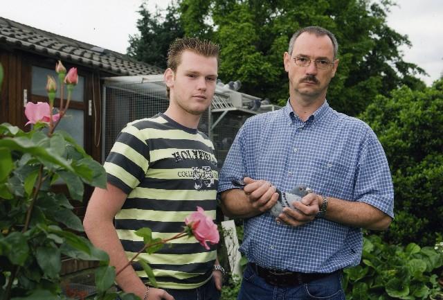 Bart met zijn vader en leermeester
